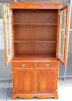 SOLD - Yew Wood Bookcase Cabinet in the Antique Georgian Style